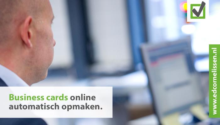 Visitekaartjes automatisch opmaken